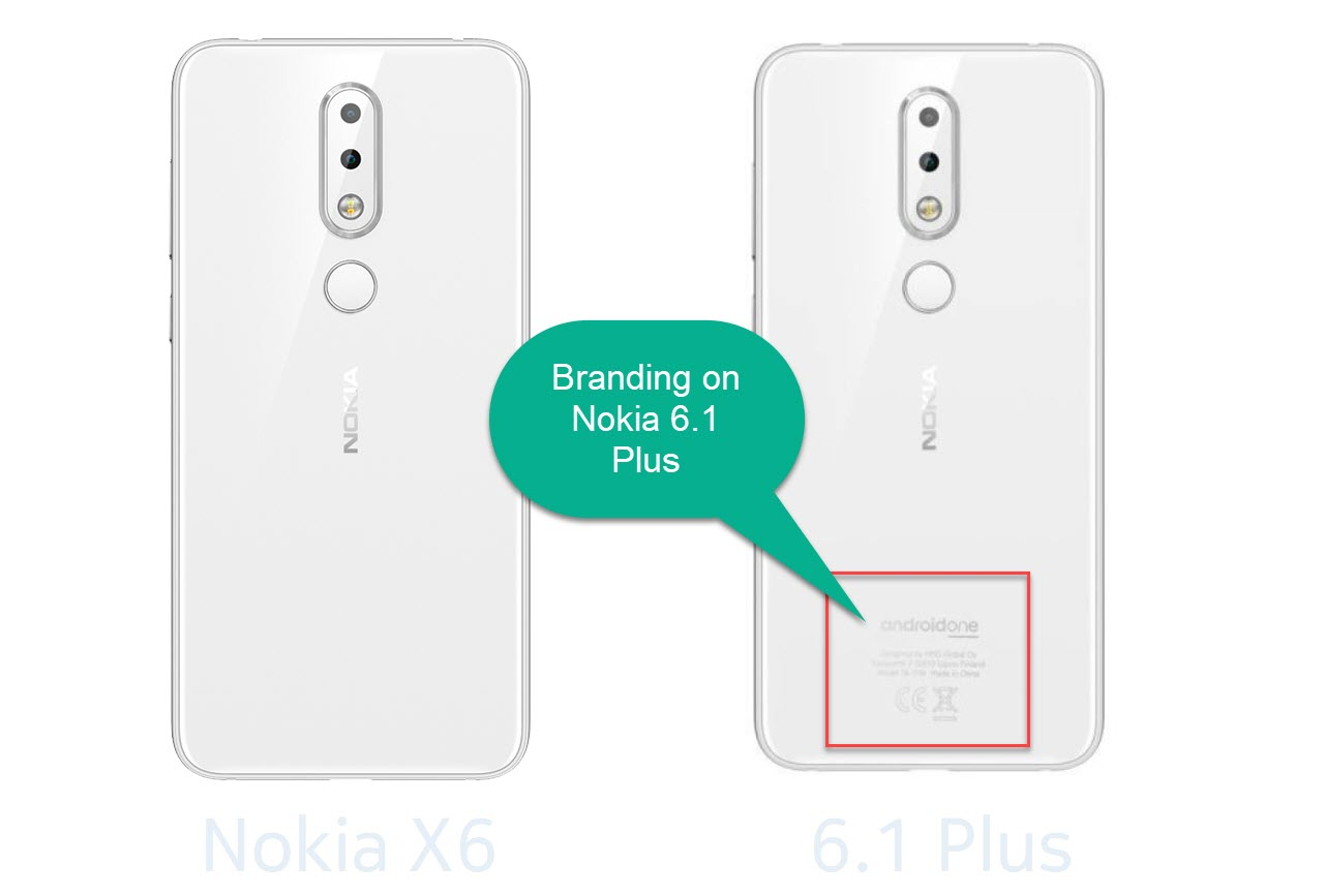 Nokia 6.1 Plus vs Nokia X6 - The differences