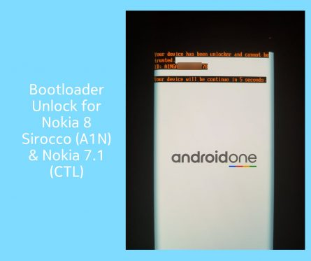 Bootloader unlock for Nokia 8 Sirocco or Nokia 7.1